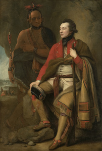 Colonel Guy Johnson and Karonghyontye (Captain David Hill)