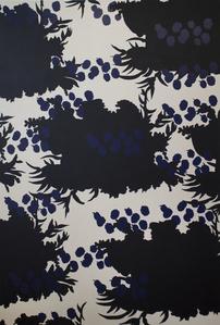 Wallpaper Series - Black Flower Print