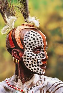 Karo Man Painted For Courtship, Ethiopia