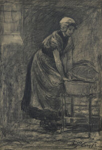 Woman with Bassinet