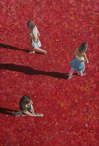 Three Women on Red