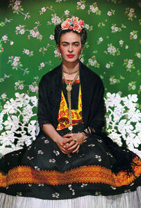 Frida on White Bench, New York