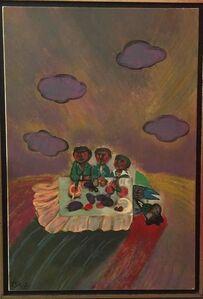 Shabbat Meal, Judaica Painting