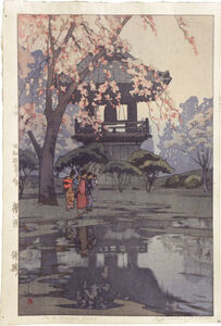 Eight Scenes of Cherry Blossoms: In a Temple Yard