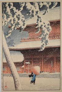 Shiba Zojo Temple in Snow