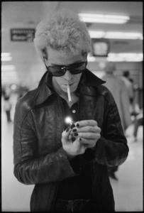 Lou Reed at the San Francisco International Airport