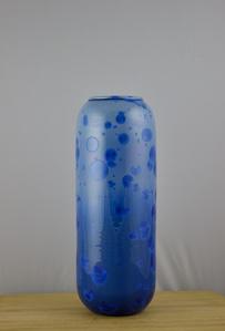 Blue Cylinder Vase