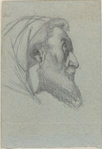 Bearded Man in Profile (recto) / Woman Looking Up (verso)