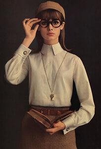Jean Shrimpton Buttoned Up, Lady Van Heusen