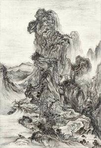 Fiery Ink, Travelers in Autumn Mountains by Guo Xi