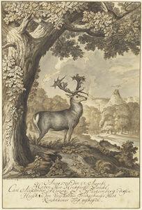 A Stag beneath a Mighty Oak