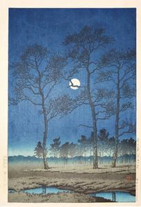 Winter Moon on Toyama Plain