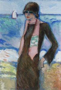 Femme au Foulard Rose (Woman with a Rose Scarf)