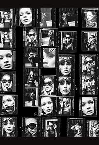 Kate Moss (Desire) Contact Sheet, New York, Italian Harper's Bazaar