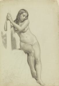 Female Nude Perched on a Stool