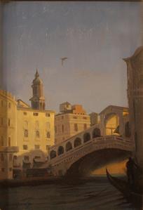 Dusk, Ponte di Rialto, Venice