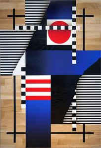 Composition géométrique drapeaux et lignes 2