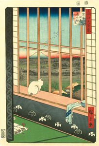 Asakusa Ricefields and Torinomachi Festival from the series One Hundred Famous Views of Edo