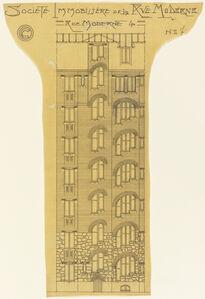 Elevation of an Apartment Building, Société Immobilière, rue Moderne (now rue Agar)
