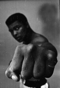 Muhammad Ali, left fist