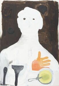 Porträt mit Handschuh