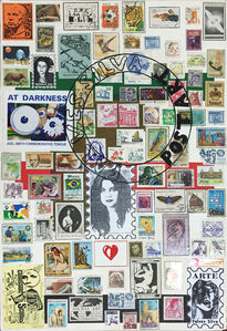 Artist's stamps VI, from the series 'Postal Art'