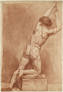 A Male Nude Seen from behind
