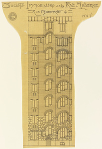 Elevation of an Apartment Building, Société Immobilière, rue Moderne (now rue Agar)