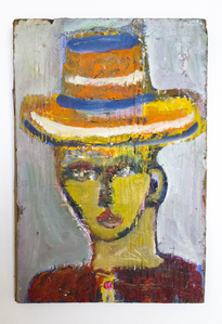 Small portrait with top hat