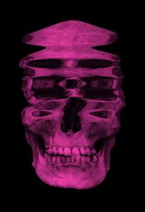 Distorted Skull pink/black