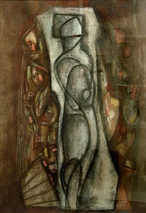 Untitled Composition with Figure