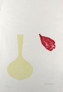 Vase and Falling Petal