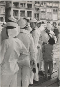 Children Selling Ivory Sticks to Soldiers in Hong Kong.
