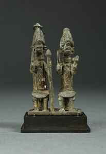 Pair of Exquisitely Detailed Ogboni Society Figures