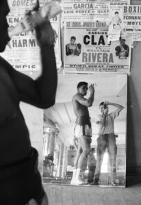 Cassius Clay and Marvin Newman, Fifth Street Gym, Miami