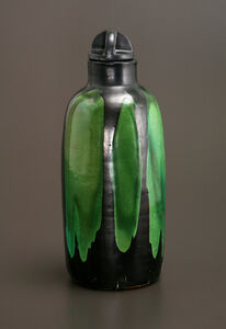 Jade and Black Bottle Vase