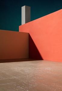 Courtyard with Orange Wall