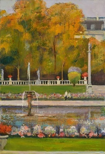 Luxembourg Gardens #1, Diptych