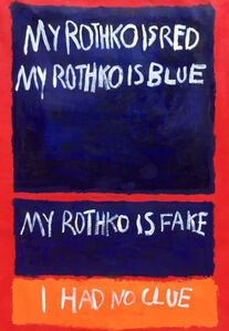 Fake Rothko and Poetry