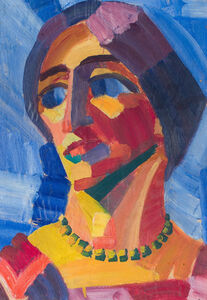 Head of a Woman with Necklace