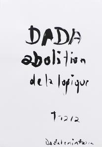 Dadalenintzara, Dada abolition de la mémoire 1916/ 2009