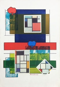 Self Portrait and Mondrian, from the series 'Mondrian'