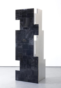 a parliament of some things (Additive and Subtractive Sculpture, Obsidian Screen, Panels 1 & 2)