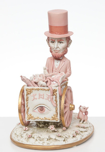 Pink Lincoln Meat Cart