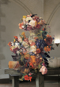 The Costume of painter - Still life with human image vase 060608 & Still life with flowers