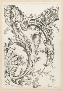 Shell Cartouches and Acanthus Leaf Motif