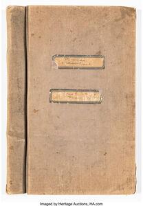 Rare and Original Manuscript for Democracy (A Man-Search)