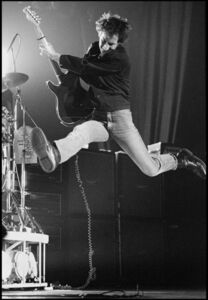 Pete Townshend of The Who Jumping, UK Tour