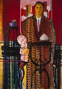 Mr. Rahul Abd Al Aziz's portrait, at his office in Beirut/Lebanon