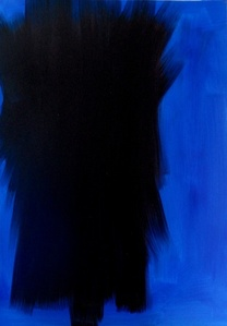 Black on Blue Original